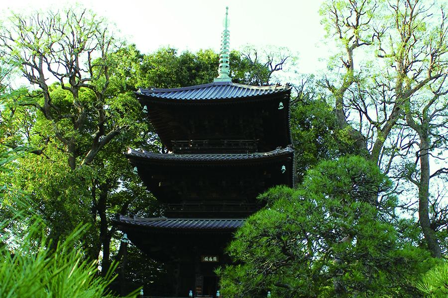 荘厳な歴史建造物に癒される三重塔