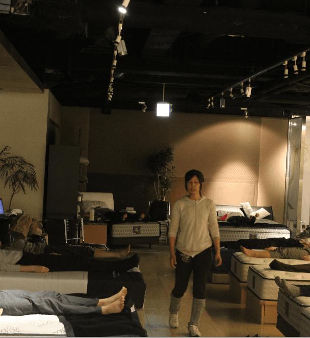SLEEP SELECT AOYAMAにて開催された「眠りヨガ」の様子です。