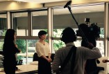 SLEEP SELECT NAGOYA 久屋大通にて行われた、中京テレビ「キャッチ」の撮影取材風景です。